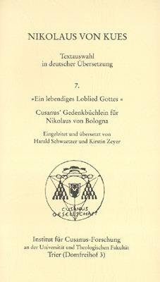 Übersetzung eines Briefs den Nikolaus von Kues an Nikolaus aus Bologna schrieb