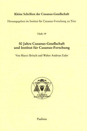 Zum 50-jährigen Bestehen der Cusanus-Gesellschaft und Forschung an der Universität Trier, werden hier nun verschieden Aufsätze und Beiträge der Stiftung auch der Öffentlichkeit zugänglich gemacht.