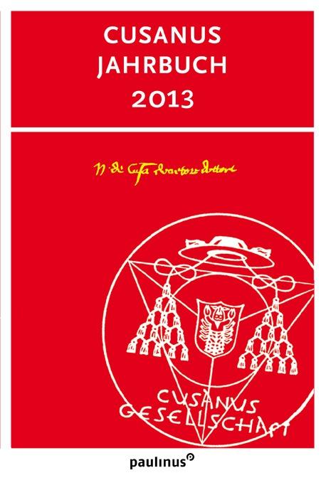 Das Cusanus Jahrbuch 2013 enthält Beiträge, Berichte und Besprechungen des Cusanus Instituts zu Leben und Werk von Nikolaus von Kues.