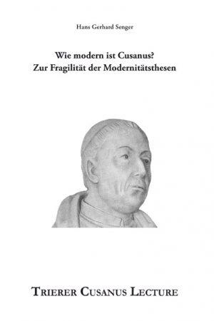 Obwohl Cusanus bis heute angesehen ist, stellt sich die Frage seiner Modernität. Dieser Text diskutiert nun die Modernitätsthesen bei Nikolaus von Kues.