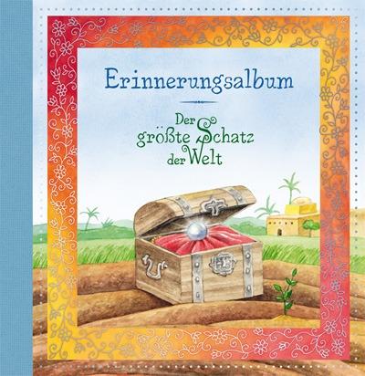 Das Der größte Schatz der Welt Erinnerungsalbum bietet viel Platz für Fotos und andere Erinnerungen vom Fest und ist mit passendem Gästebuch erhältlich.