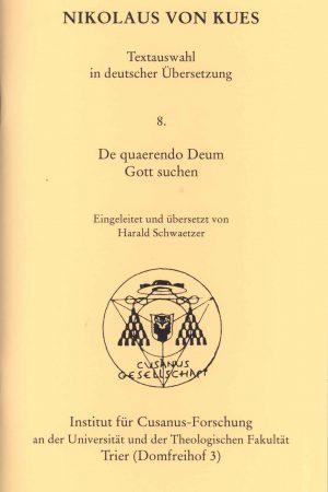 Im Mittelpunkt dieser interessanten Interpretation steht Nikolaus von Kues Schrift De quaerendo Deum - Gott suchen in welcher er den Erkenntnisaufstieg und den Weg zu Gott thematisiert.