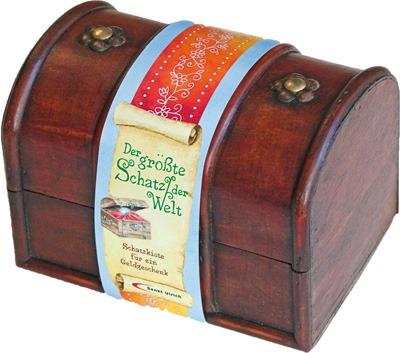 Die Der größte Schatz der Welt Schatzkiste ist ein liebevoll gestaltetes, aus echtem Holz gefertigtes Geschenk für jedes Kommunionskind. Sie enthält Schatzkarten und eine Perle und ist perfekt geeignet für Geldgeschenke.