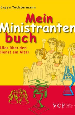 """Zahlreiche Zeichnungen, Prüfungen, Diskursen und einem Lexikon mit Erklärungen für Ministranten und Messdiener, das alles enthält """"Mein Ministrantenbuch""""."""